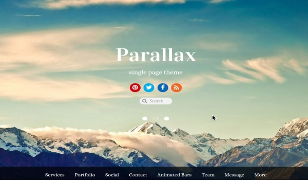 Tema wordpress Parallax