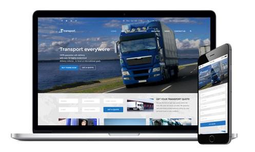 Tema profesionala WordPress pentru firma de transport